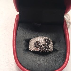 Disney sterling and cubic zirconia Mickey ring
